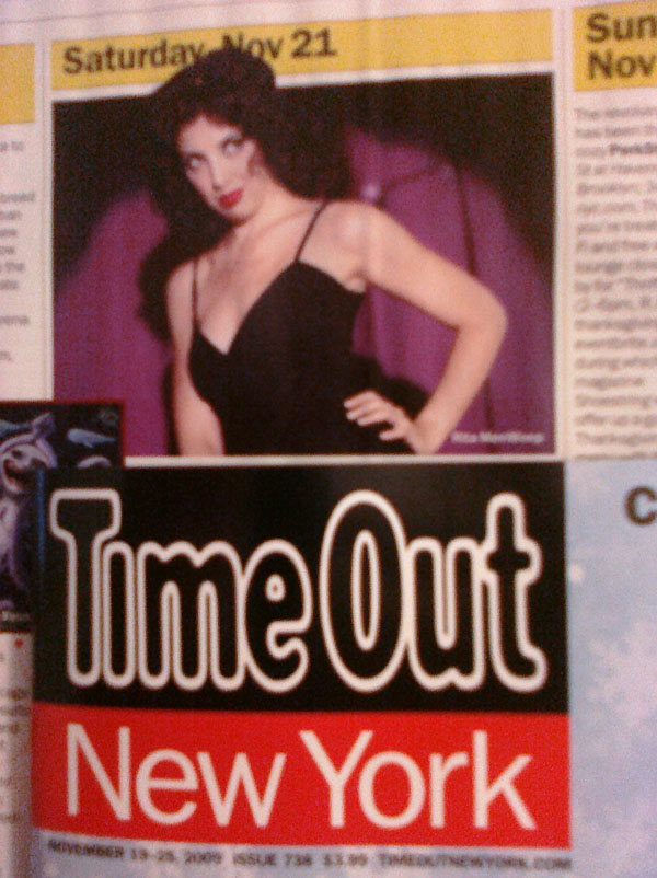 Time Out NY Review of Rita Menweep